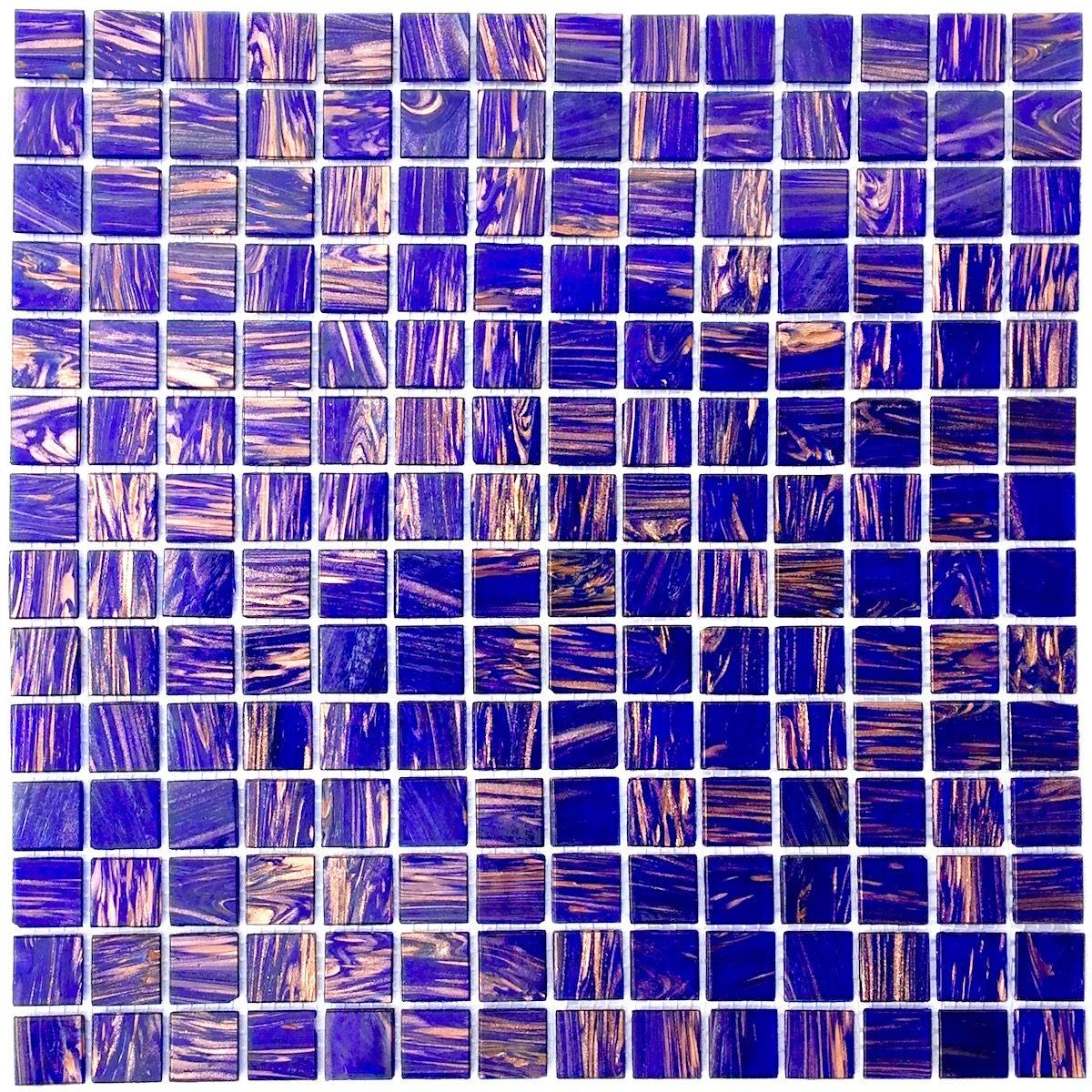 Plaque carrelage moaique pate de verre modele VITRO VIOLET